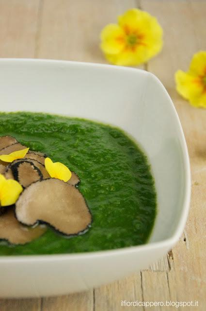 zuppa di broccolo fiolaro e tartufo