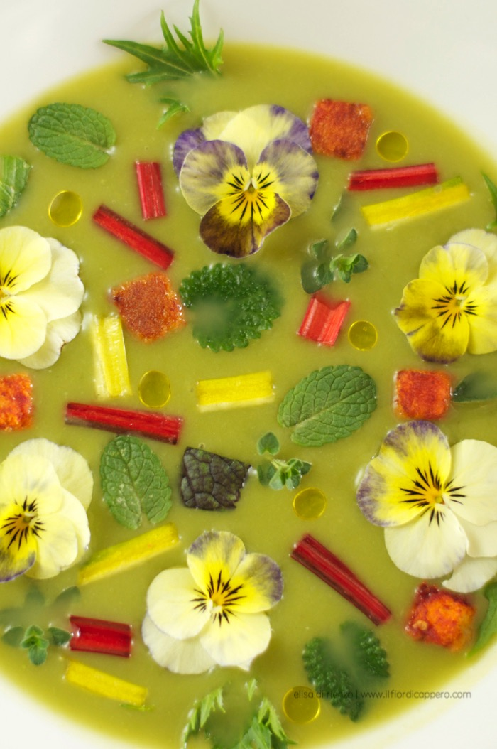 crema di asparagi limone menta