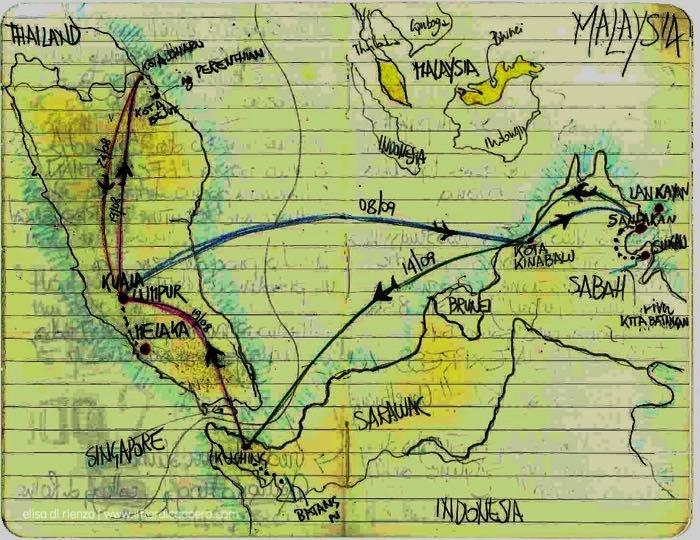 itinerario Malesia