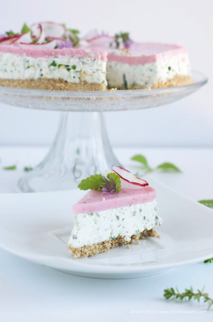 cheesecake-erbe e ravanello
