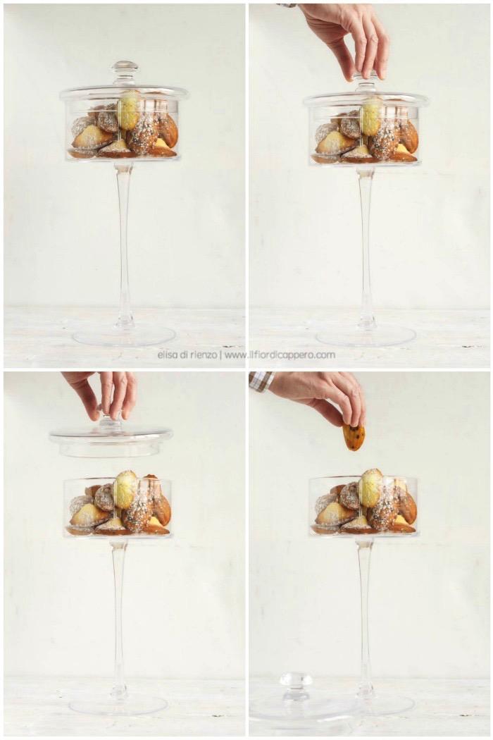Madeleine limone e cioccolato