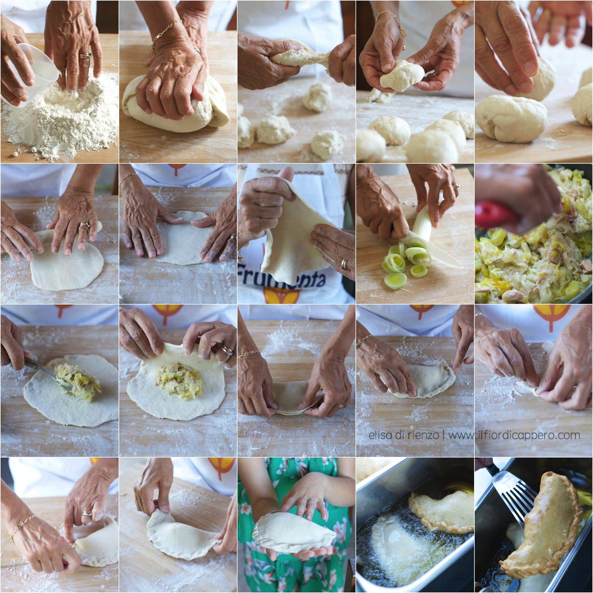 step by step-panzerotti
