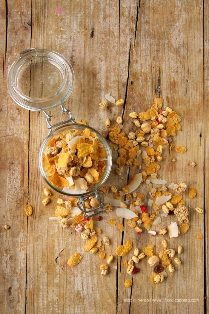 granola con avena