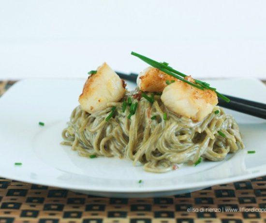 spaghetti te verde