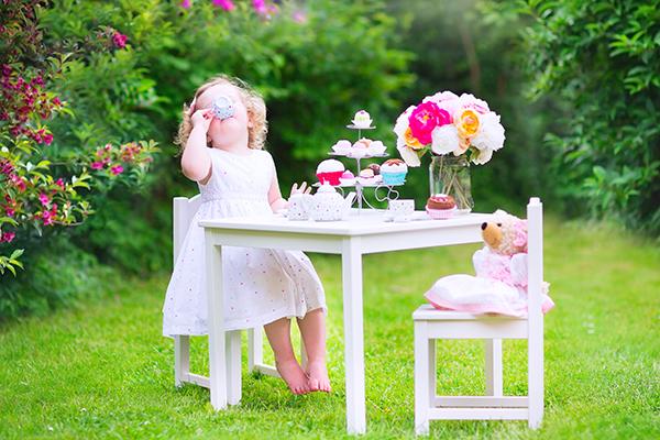 il tè in giardino