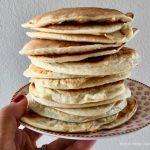 Pancakes con albumi e yogurt