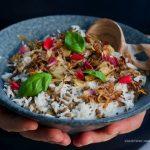 Riso speziato, lenticchie e cipolla croccante: la mejadra