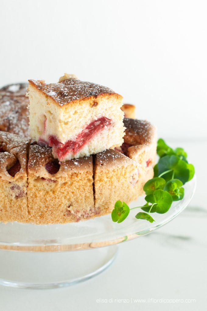 torta soffice fragole