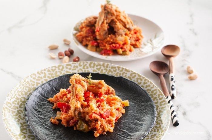red rice stufato di pollo