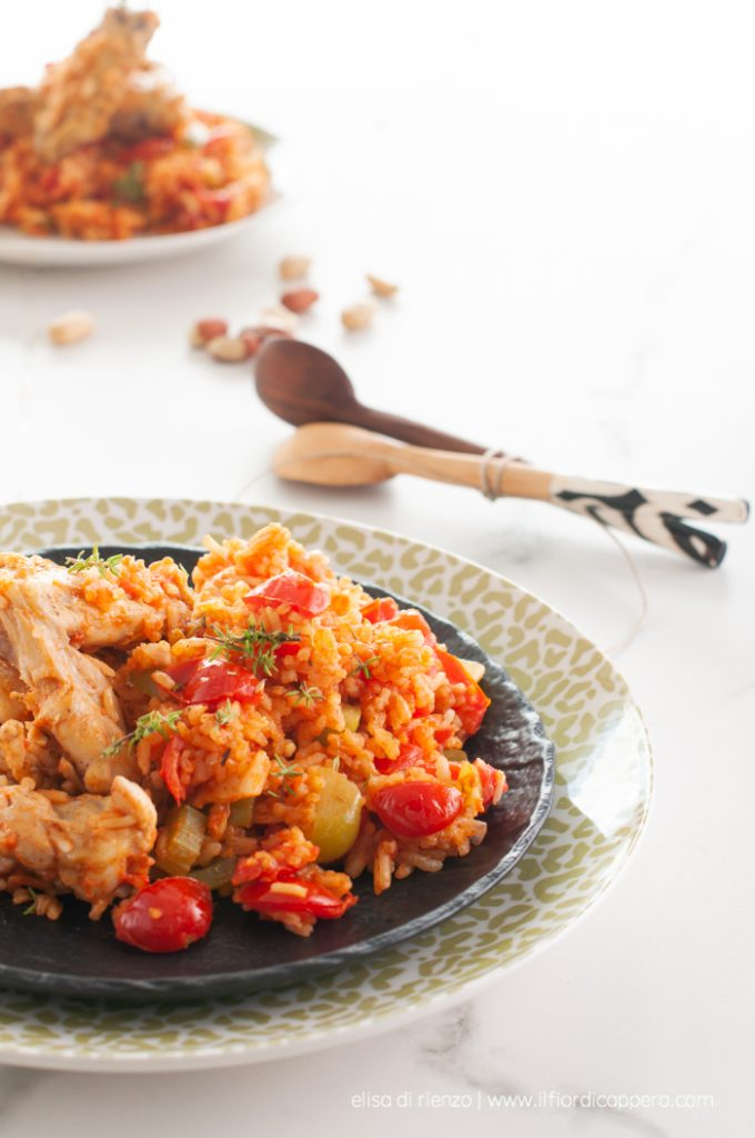 red rice stufato di pollo