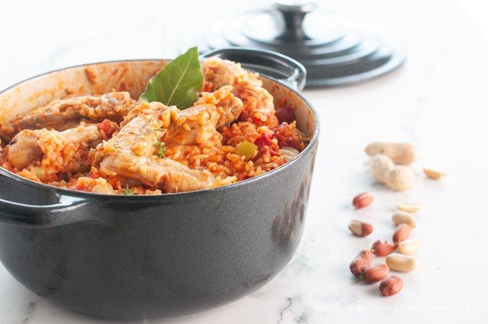 red rice con stufato di pollo