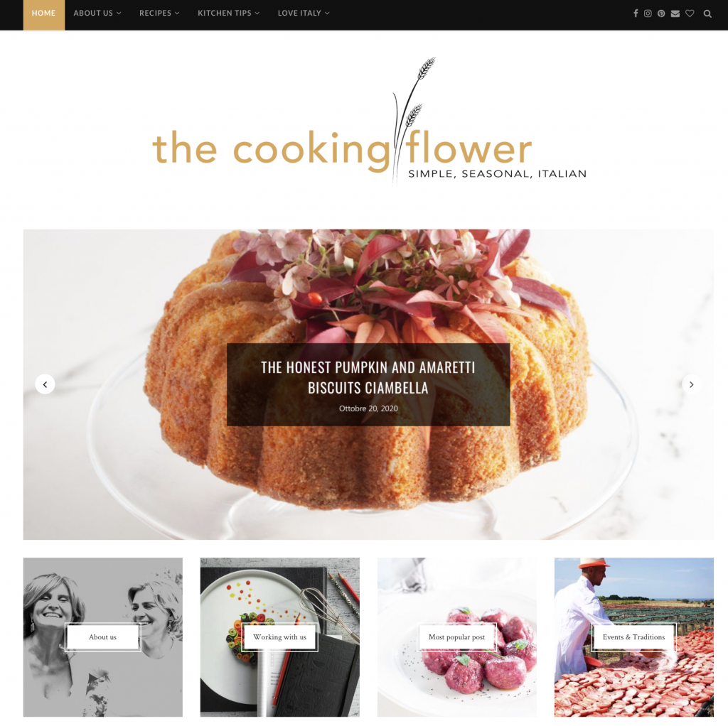 blog the cooking flower