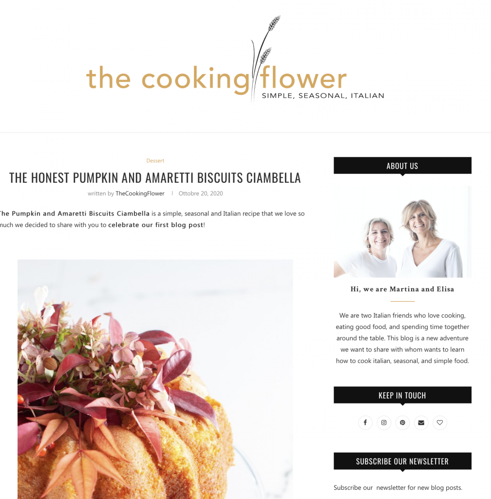 the cooking flower