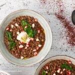 Stufato vegetariano di lenticchie e zucca, ai profumi mediorientali