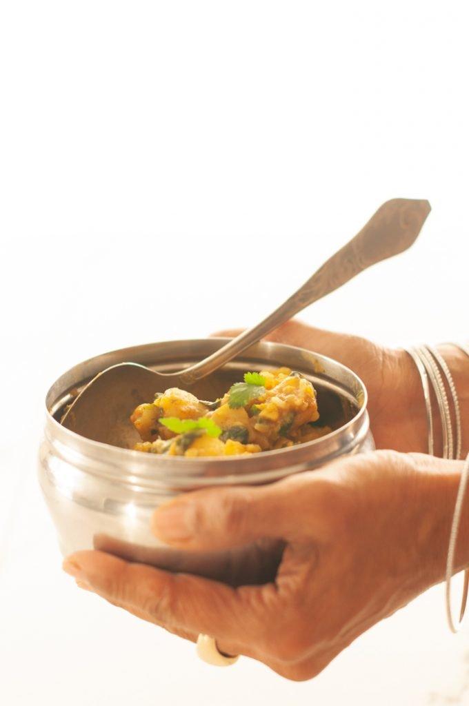 curry di patate indiano