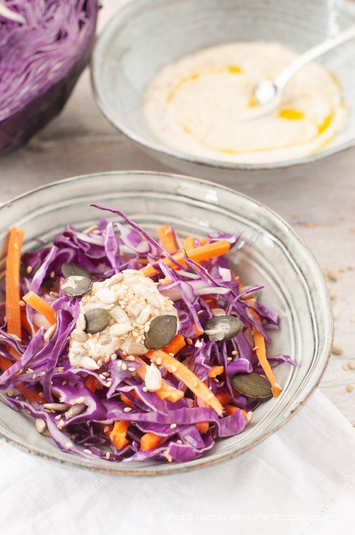 insalata di cavolo cappuccio e carote