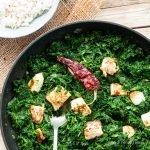Palak paneer, curry di spinaci con formaggio:  ricetta indiana