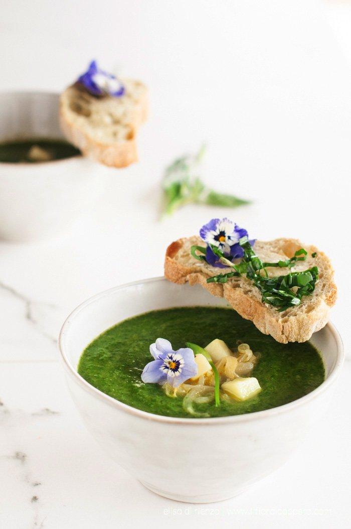 zuppa ortica aglio orsino