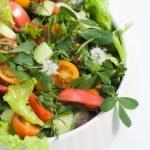 insalata di portulaca-piatto Lou Arteceramica