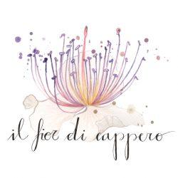fiore e lettering logo
